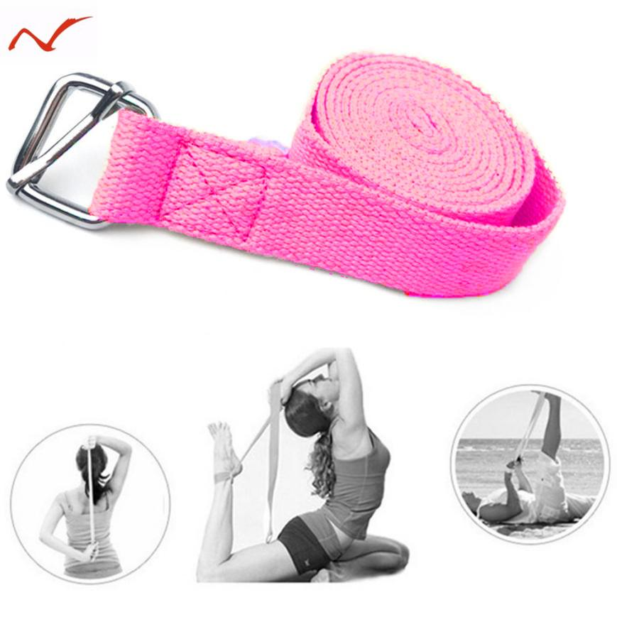 Yoga Belts Adjustable Sport Stretch Strap D-ring Belts Gym Waist Leg Fitness Yoga Belt New Discounts Price Sports & Entertainment