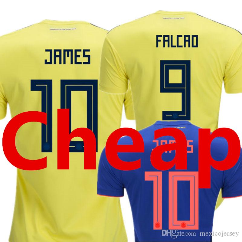 c8ba42d0d Colombia Soccer Jersey 2018 World Cup National Team Home Yellow Away ...