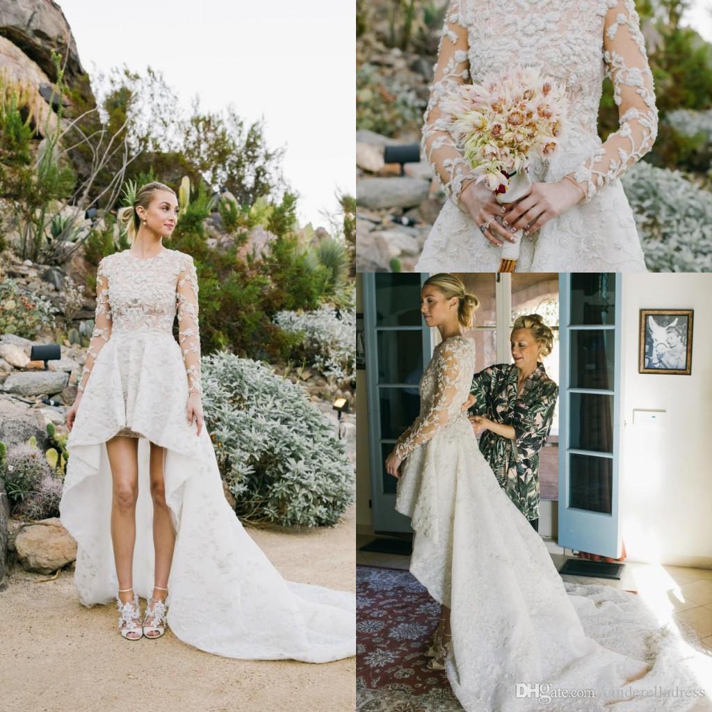 Discount Country Boho Beach Wedding Dresses 2018 Crew Neck 3d ...