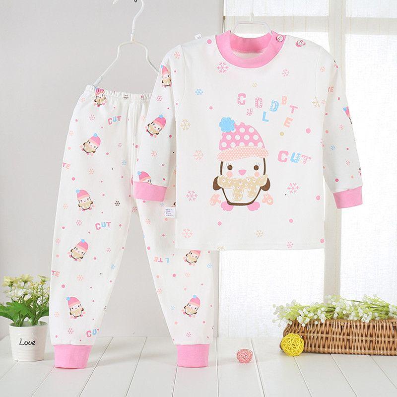 26f40cdc0759 Pijamas Kids Pijama Sets Cotton Pyjamas Kids Baby Boy Girl Printing ...