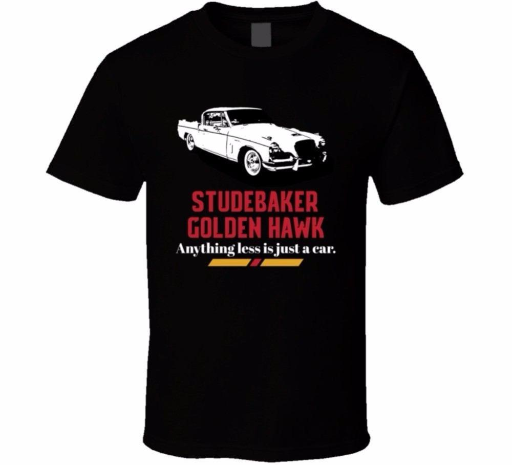Maniche estive T Shirt Casual Short O-Collo Mens Studebaker Golden Hawk Anything Less Is Just A Car Fan Maglietta Tee Shirts