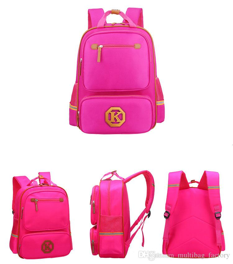 1743b10d02 Fashion School Bag Primary Middle School Girls Boys Backpack Student  Bookbag Shoulder Bags Travel Bags Outdoor Daypack Small Bum Bags Hype  Backpack From ...