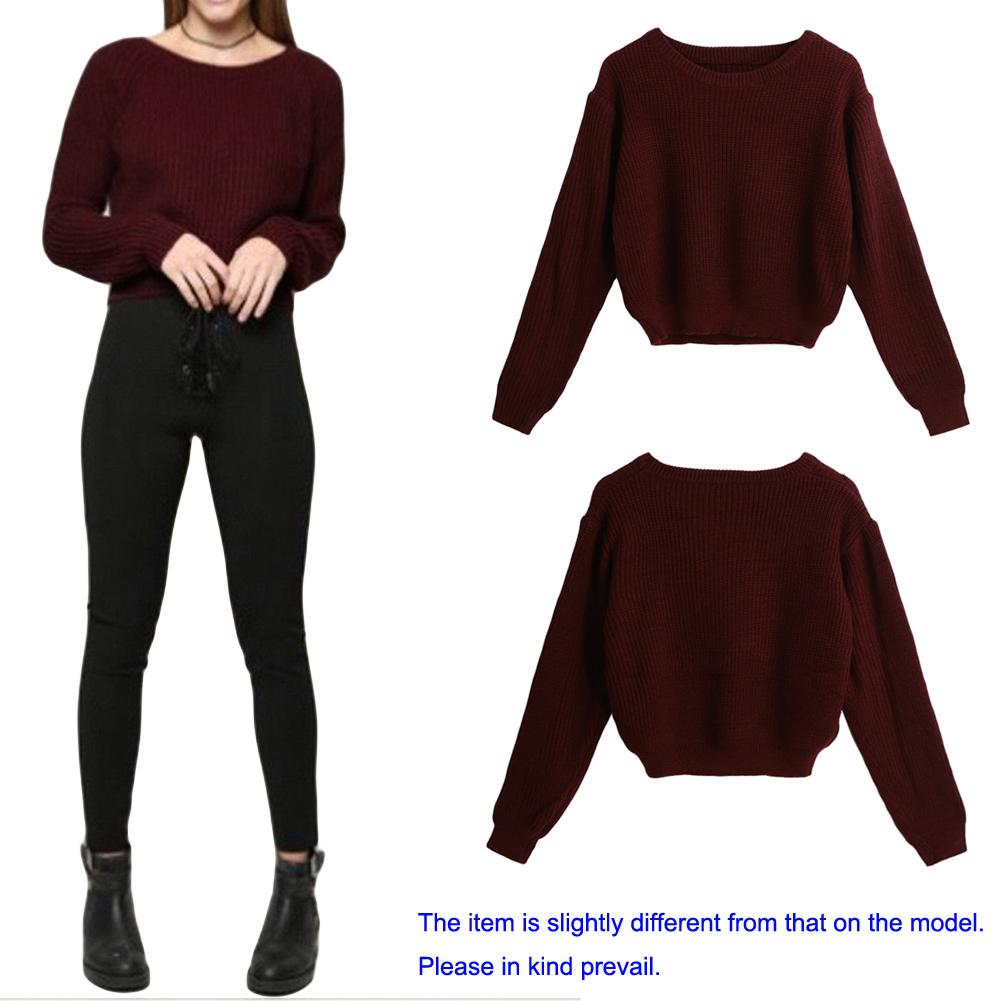 b3a34e840d Women Sweaters And Pullovers Long Sleeve Casual Crop Sweater Slim Korean  Style Knitted Tops Female 2018 Autumn Winter Jumpers Online with   32.53 Piece on ...