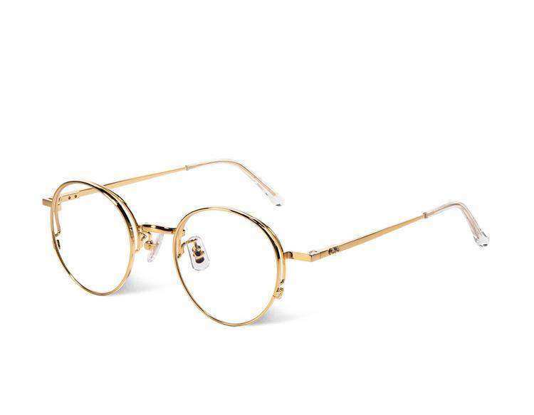 Compre 2018 Moda Vintage Rodada Armação De Metal Mulheres Simples Óculos De  Prescrição De Luxo Da Marca De Design De Qualidade Eyewear Frame Oculos De  Grau ... 017ac82dce