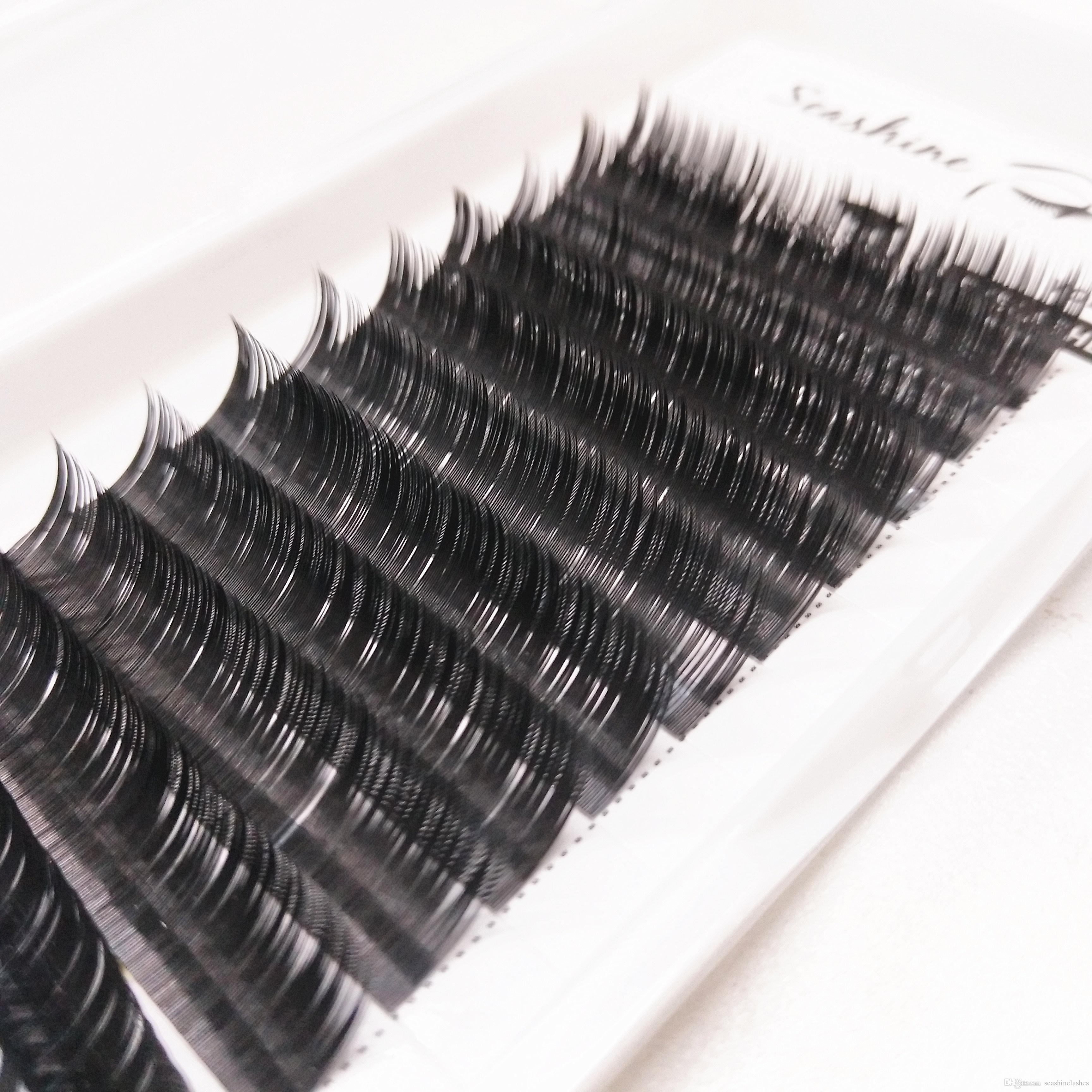6ab79d5fea1 Seashine Logo Individual Eyelash Extension 8 18mm Single Length JBCD Curl  0.03 0.25mmT Accept Private Label Eyelashes Grow Back Hollywood Lashes From  ...