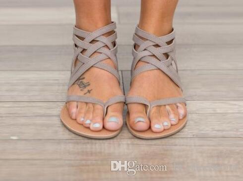 ea18420ce7f5 Plus Size 34-43 Flats Summer Women s Sandals 2018 New Fashion Casual ...
