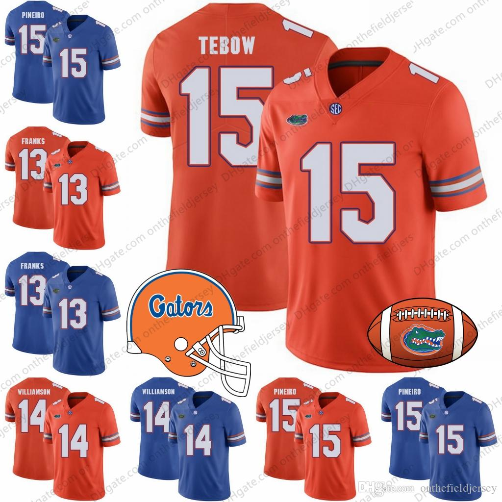 reputable site c86c1 54f8e Florida Gators 2018 NEW BRAND JUMP #13 Feleipe Franks 14 Chris Williamson  15 Eddy Pineiro 15 Tim Tebow NCAA College Football Jerseys S-3XL
