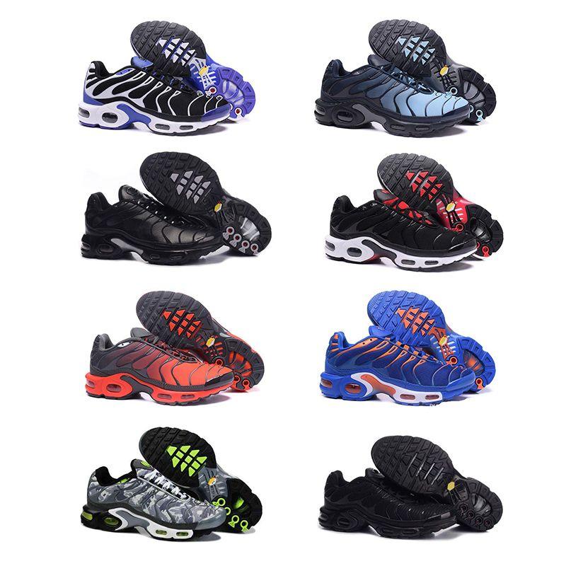 2018 NIKE air max Top Cheap Hommes Femmes Chaussures Rainbow Green TN Ultra Sports Requin Sneakers Air Caushion Chaussures de course 36 46