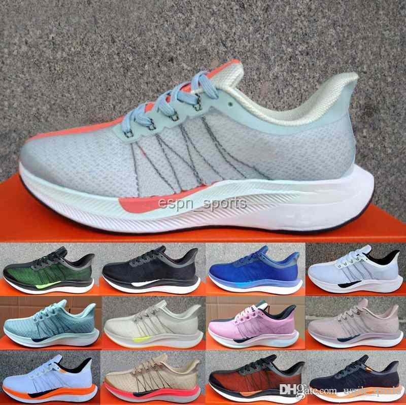 competitive price 3f963 72543 Compre 2018 Nuevo Zoom Pegasus Turbo Barely Grey Punch Negro Blanco  Zapatillas De Running Para Hombre Mujer React ZoomX Vaporfly Pegasus 35 Off  Chaussures A ...