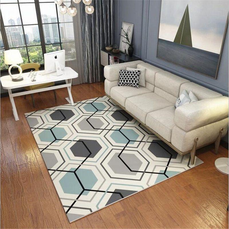 Geometric Creative Carpet For Living Room Bedroom Kid Room Delicate Interesting Best Living Room Carpet Creative