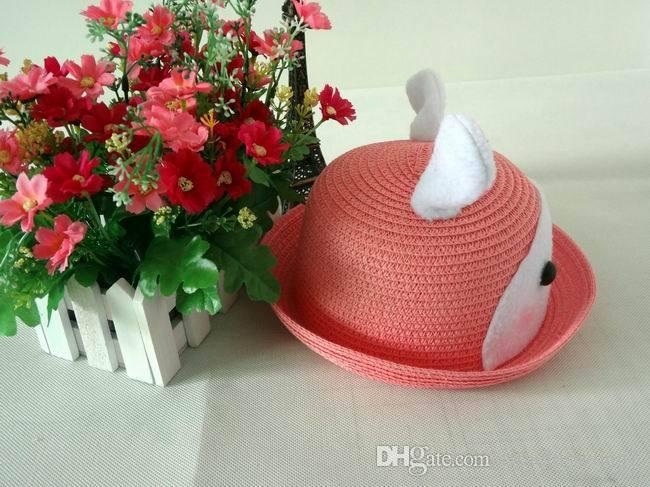chapeaux pour enfants avec des garçons délicats chapeau bébé créatif lapin dessin animé oreille chapeaux filles seau casquette casquettes de sorcière chapeau de plage de bateau gratuit