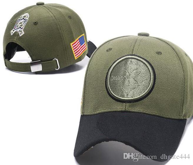 5ebe3a6bc7f 2019 2018 Fan S Store Pittsburgh Hat Outlet Sunhat Headwear Snapback Caps  Adjustable USA Flag Olive Salute To Service Limited Snapbacks Hats From  Dhgate444