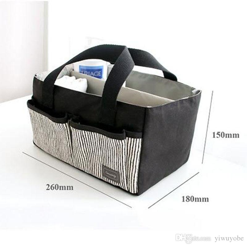 Storage Bag Baby Protable Nappy Reusable Washable Wet Dry cotton Diaper Bag Baby Nappy bin DHL