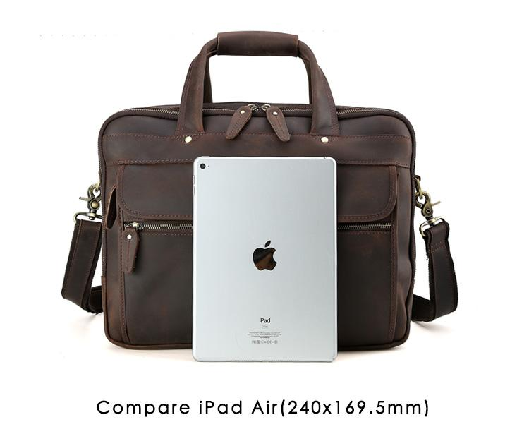 a0882d9e3cda Men Leather Travel Briefcases 15.6 Laptop On Trolley Case Messenger Bag  Tote Handbag