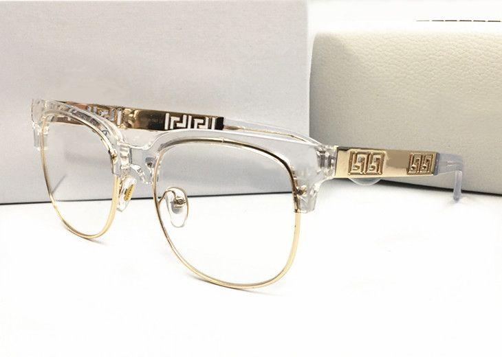 Estate stile italia marca medusa occhiali da sole a metà telaio donna uomo marca designer protezione uv occhiali da sole lenti trasparenti e lenti di rivestimento sunwear
