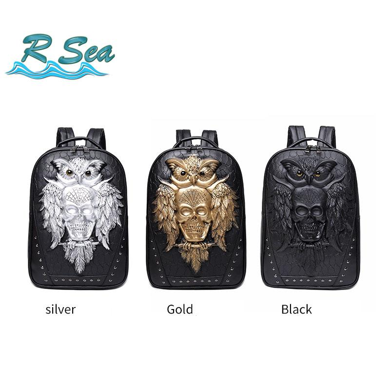 Fashion laptop backpack Animal backpack men and women pu portable cool computer bag fast shipping