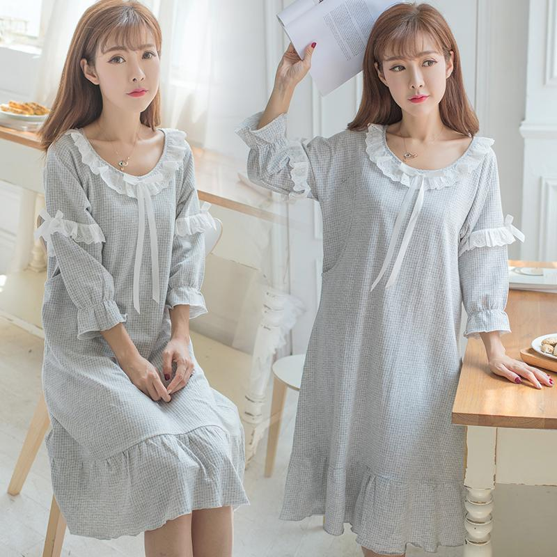 76a6896f99be9 2019 Sweet Cotton Maternity Nursing Nightwear Summer Fashion ...
