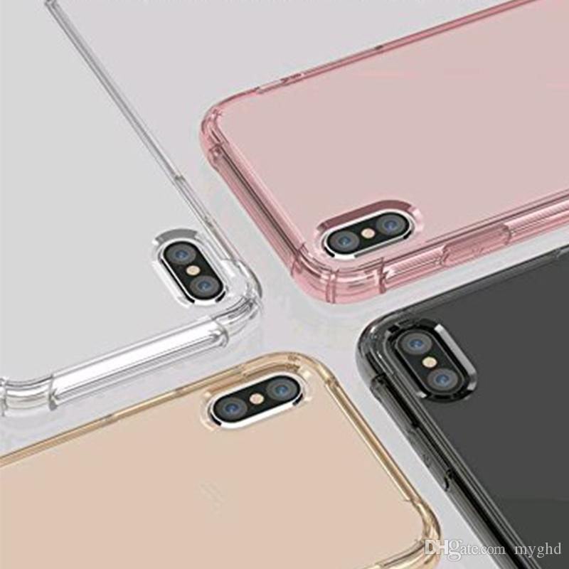 Air cushion shockproof gel tpu sound switching speaker transparent phone case anti shock cover for iphone x 6 7 8 plus s8 R11
