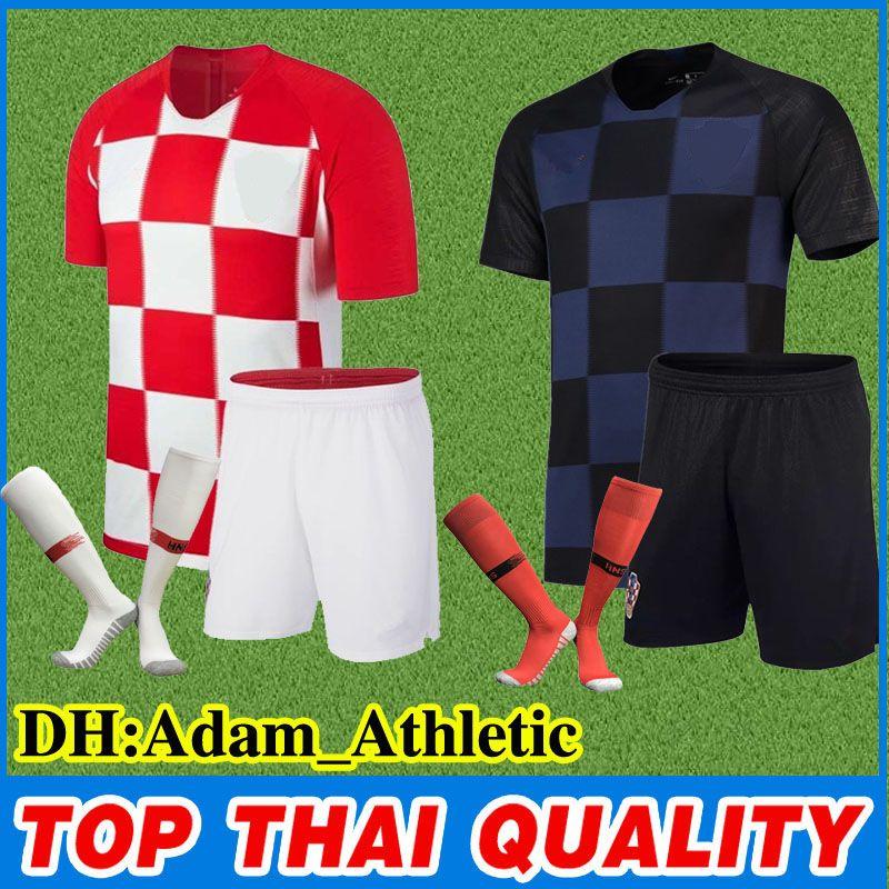 Thai Quality 2018 World Cup Croacia Jersey Kit MODRIC RAKITIC ... df039581f