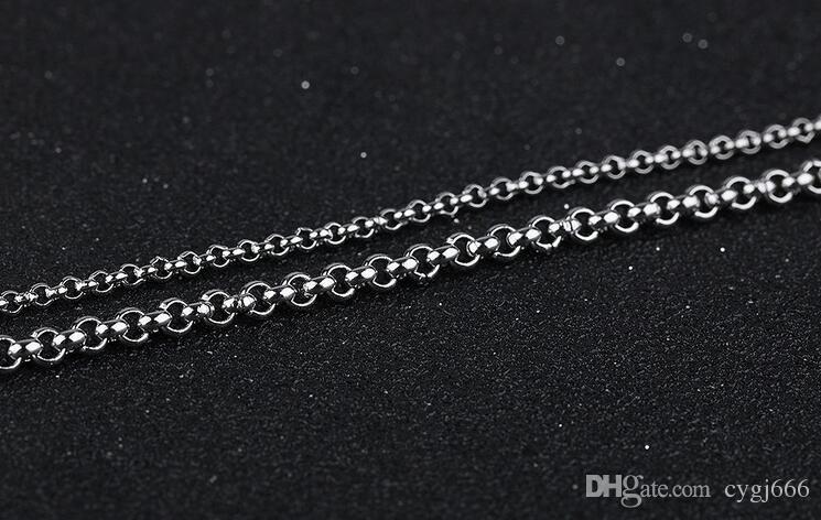Collana a catena singola in catena in titanio con catena in acciaio inossidabile