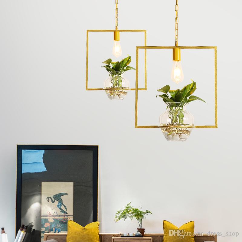 Modern decorative pendant lights Hanging lamps golden colour lampshade restaurants kitchen dining room Luminaire E27 110V 220V