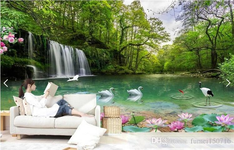Custom Photo Papel De Parede 3d Wallpaper 5d 8d Natural Scenery Landscape Lake View Hd Fairyland Background Wallpaper Hd Wallpapers Of Hd Wallpapers Wallpapers From Fumei150716 18 8 Dhgate Com