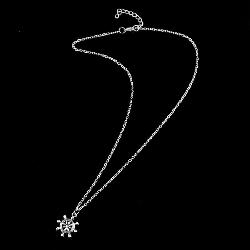 XIAOJINGLING Gioielli in stile Hawaii Collane in argento Lariat nautico Collana girocolli Collana design le vacanze