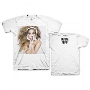 Authentic Lady Gaga Art Pop Teaser Photo Logo White T Shirt S 2xl