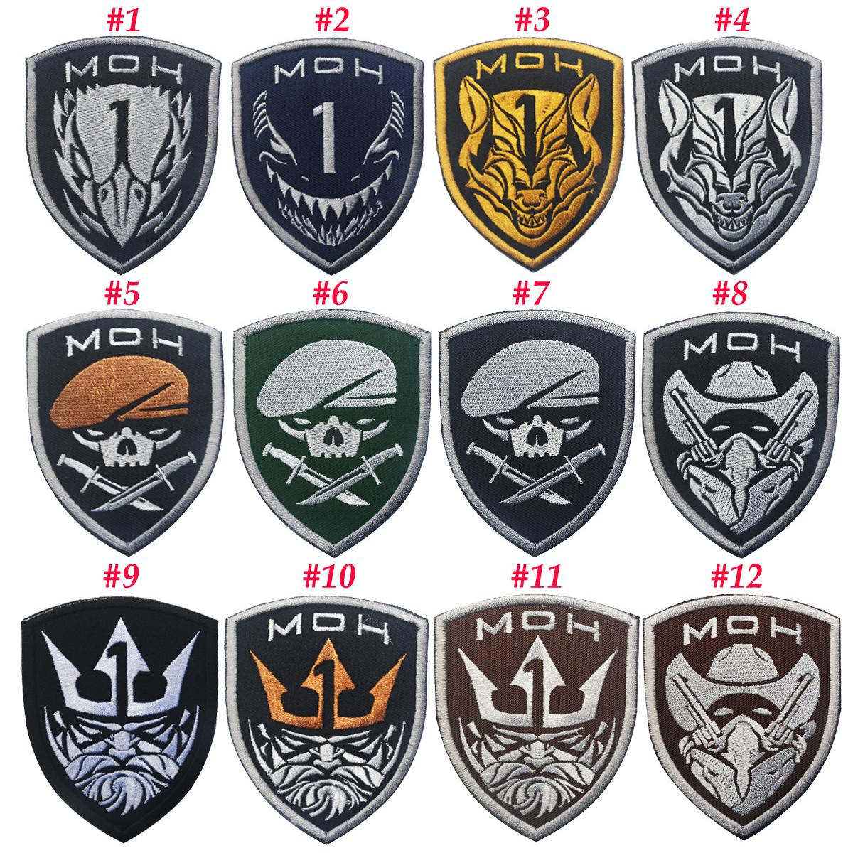 Custom patch Project Medal of honor MOH golden eagle wolf skull Tactical  morale patches army embroidery patches