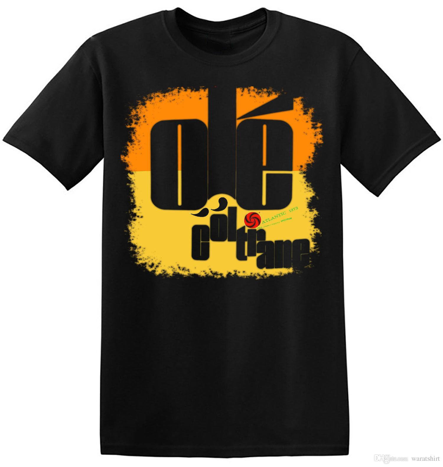 60b1d60d1 John Coltrane T Shirt Ole Retro Cool Graphic Print New Black Jazz ...
