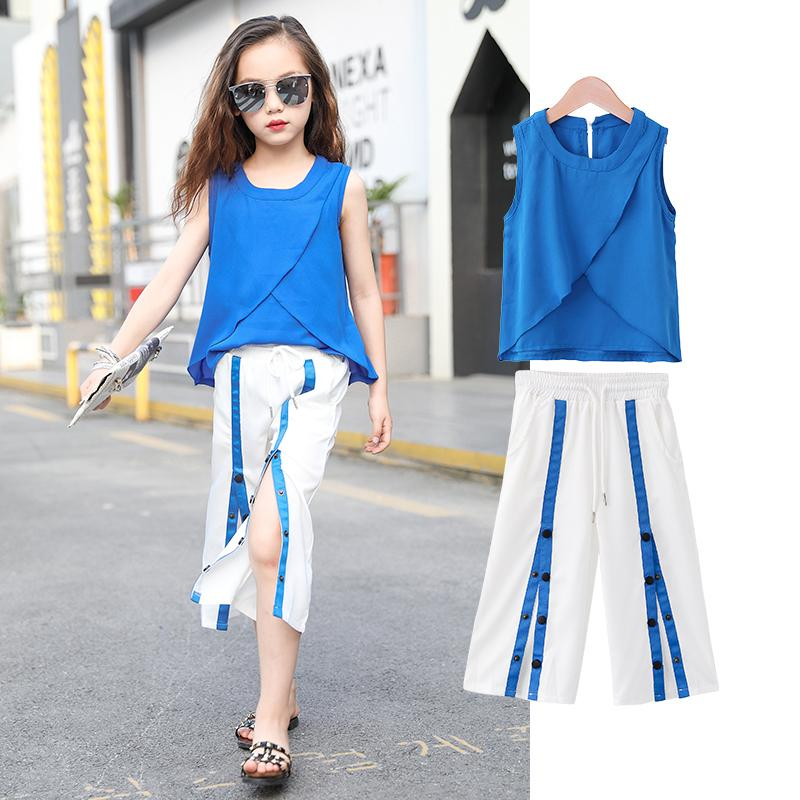 new product be13e 394d9 Vestiti di marea di chiffon a maniche larghe per bambini della nuova estate  di estate 2018 delle ragazze