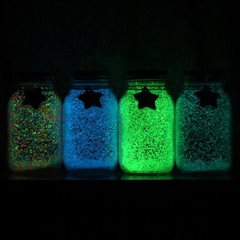 1 bag Glow Gravel Luminous Noctilucent Sand Fish Tank Aquarium Fluorescent Particles Party Decoration DIY Glow in the Dark New