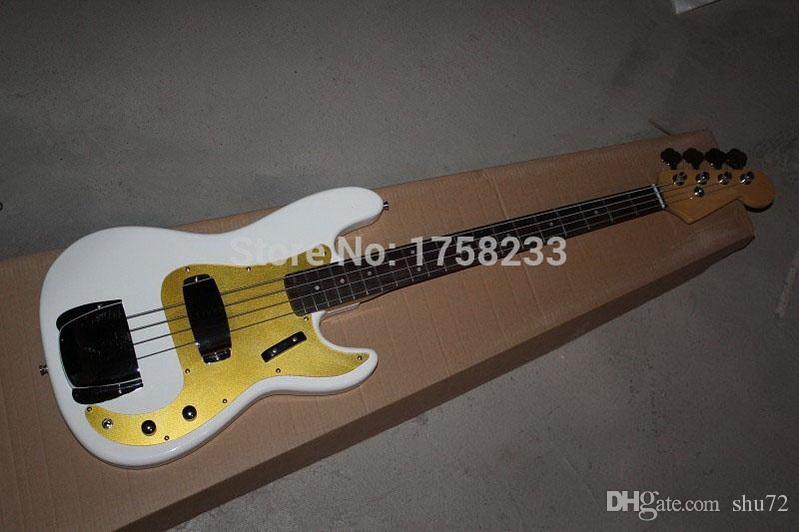 hotbest guitar Custom Shop '59 Precision Bass Electric Guitar P-Bass NOS White Blonde100% Excellent Quality