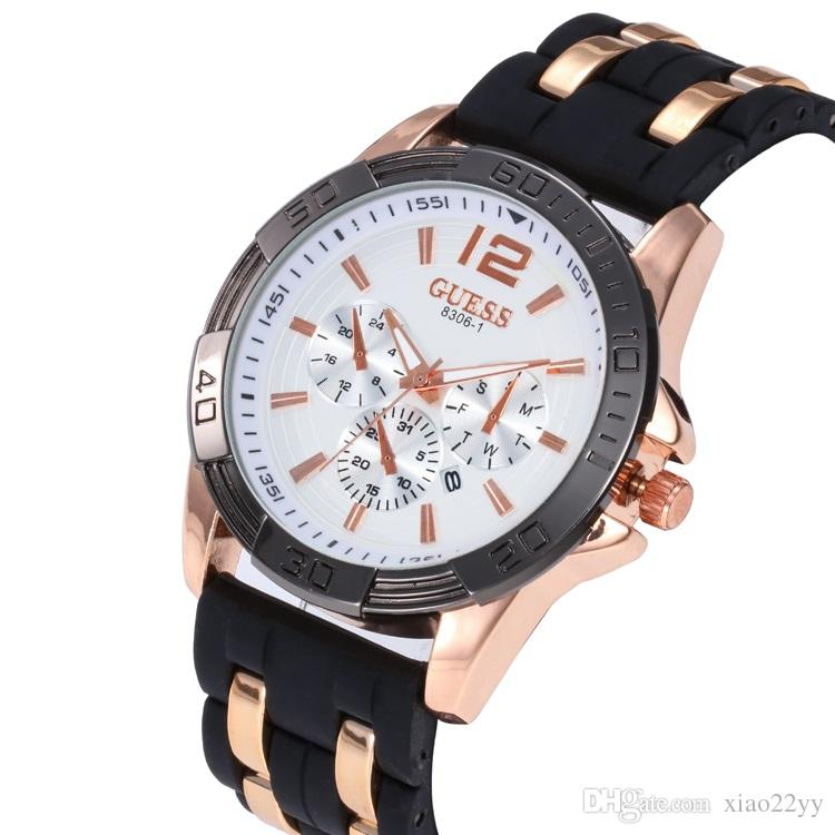 1227dfd891b 2018 Fashion Casual Mens Watches Luxury Rubber Band Business Quartz-Watch  Men Military Sport Wristwatch Relogio Masculino Online with  11.97 Piece on  ...