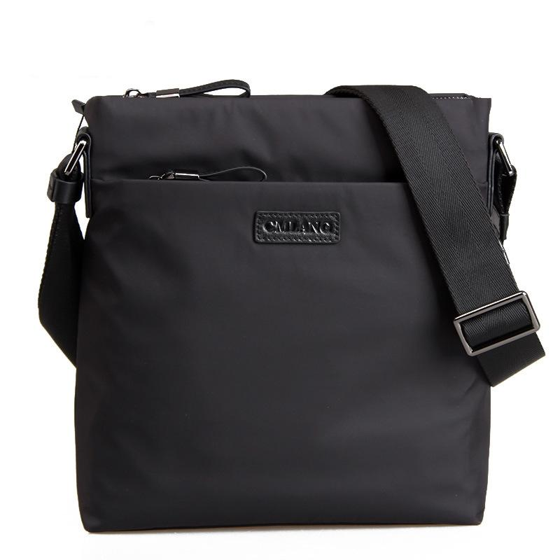 60076838dcb5 High Quality Waterproof Oxford Solid Black Business Shoulder Bag for Men  2018 New Envelope Crossbody Bags Male Messenger Bag