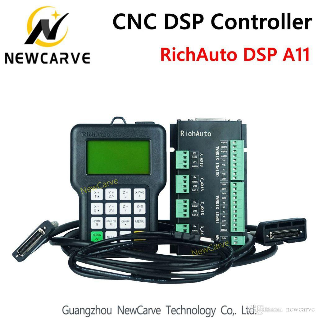 RichAuto DSP A11 CNC controller A11S A11E 3 axis Controller remote For CNC  Router NewCarve CNC DSP Controller
