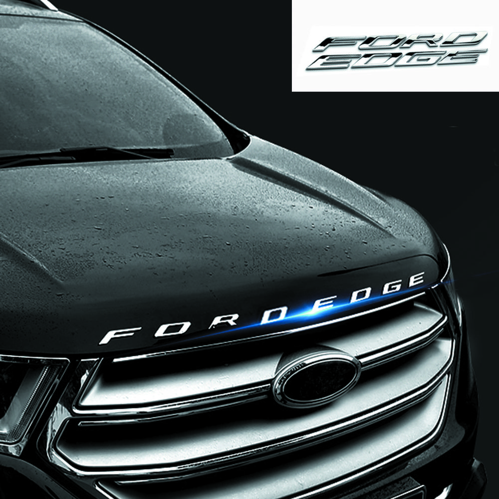 Car Styling Chrome Silver Black For   Ford Edge Fordedge Explorer New Metal D Hood Emblem Letters International Cars Logos List Of Car