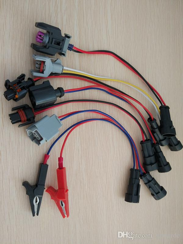 Common rail injector tester drive lines plug for bosch for denso for delphi siemens kit