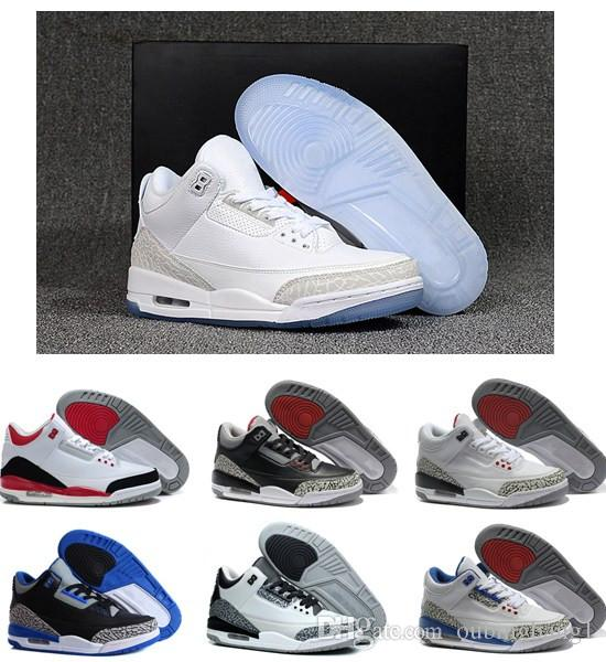 5c05f49e620 Cheap Sale New 3 Black Cement True Blue White Cement Sport Blue Infrared 23  Wolf Grey Mens Basketball Shoes Best Quality Sneakers Shoes Jordans Sneakers  On ...