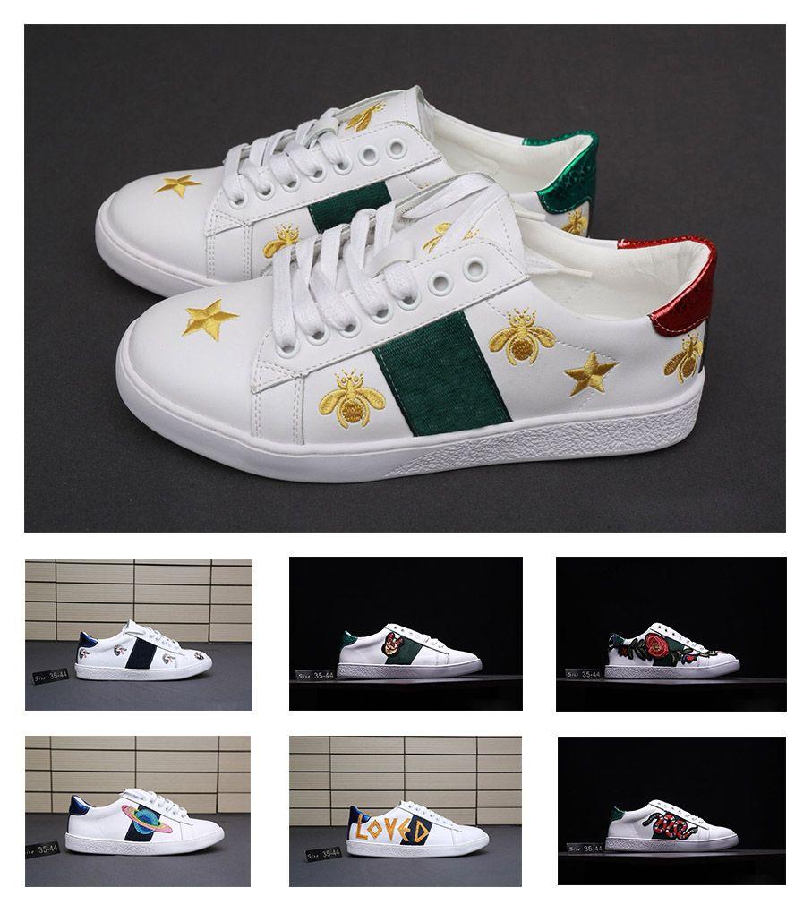 best service c123f 65119 Gucci Men Shoes gucci shoes women Le sneakers più vendute ricamate scarpe  da corsa, lettere ricamate, cosmo, ape, testa di lupo, scarpe da uomo  scarpe ...