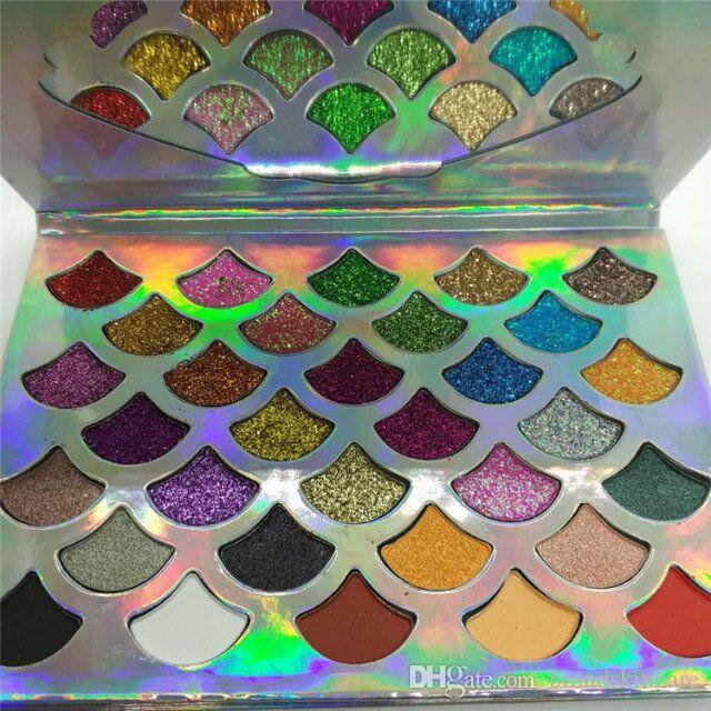 2020 새로운 재고 팔레트 32 색깔 유행 여자 아름다움 화장품 인어 반짝임 프리즘 팔레트 아이 메이크업 아이섀도 하락 선박