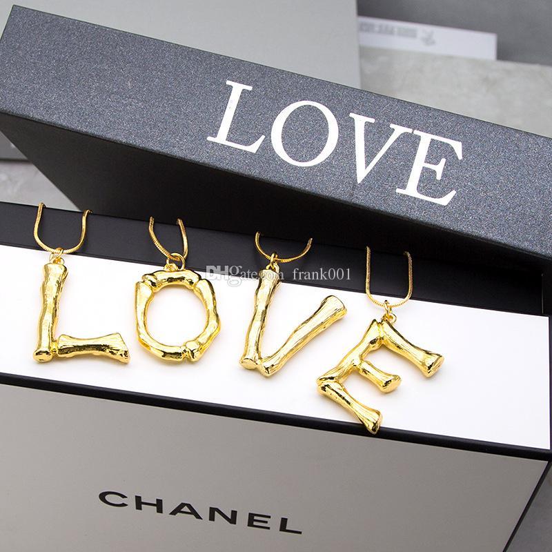 새로운 도착 럭셔리 과장된 금속 편지 목걸이 패션 기질 용암 알파벳 목걸이 26 한국어 알파벳 펜던트 목걸이