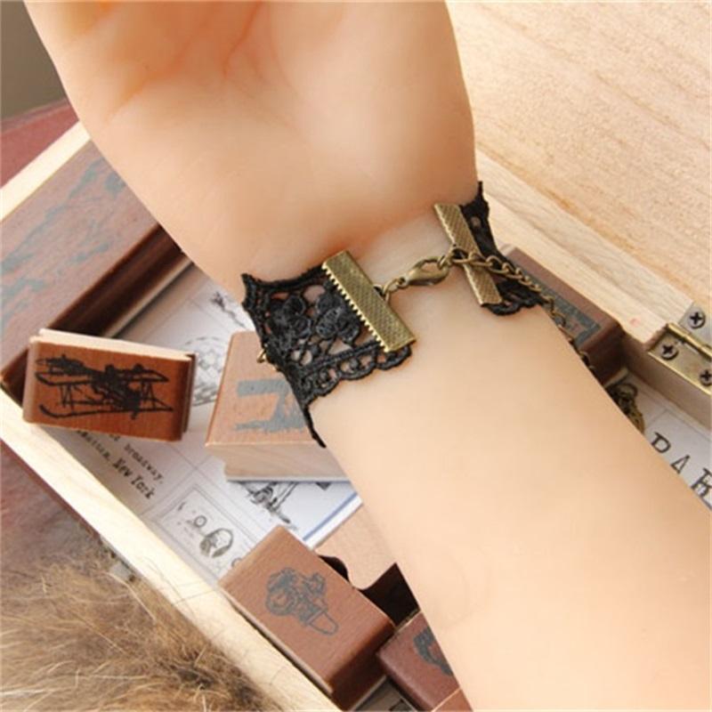 Yiyaofe handmade presente pulseira de renda preta do vintage para mulheres acessórios gótico jóias charme pulseira jóias de casamento lb-71