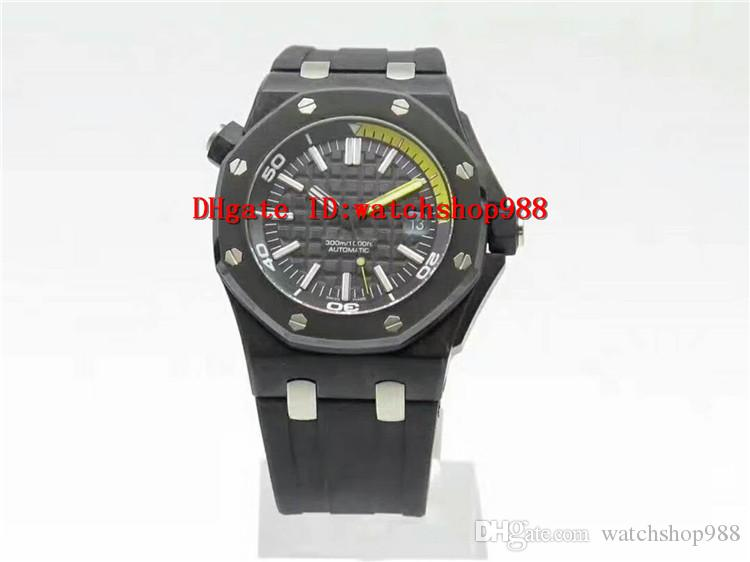 Jf Factory Royal Oak Offshore Diver 15706 Watch Forged Carbon Black &  Yellow Dial Ceramic Brushed Bezel Swiss 3120 Automatic Movement Cheap  Watches Online ...