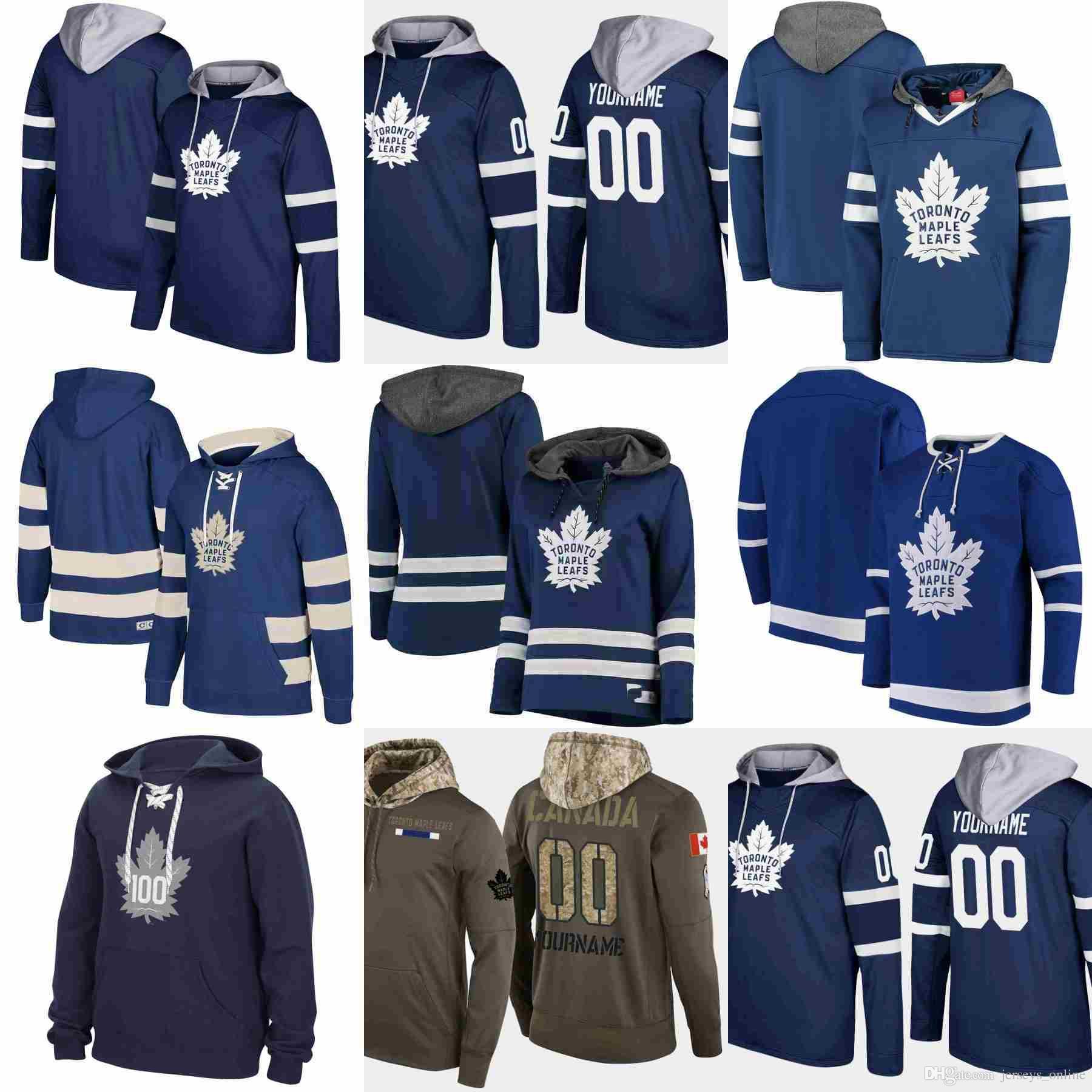 size 40 33723 4be54 Toronto Maple Leafs hoodie John Tavares A patch AustonMatthews Mitchell  Marner william nylander Hockey Jersey Sweatshirt stitched