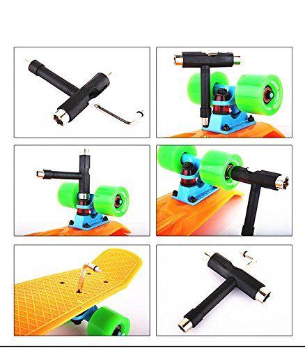 Зимний конька Skateboard Scateboard Scateer Longboard 5-Way T Skate Board ATB Tool + Allen Key Drop Ship оптом Бесплатная доставка