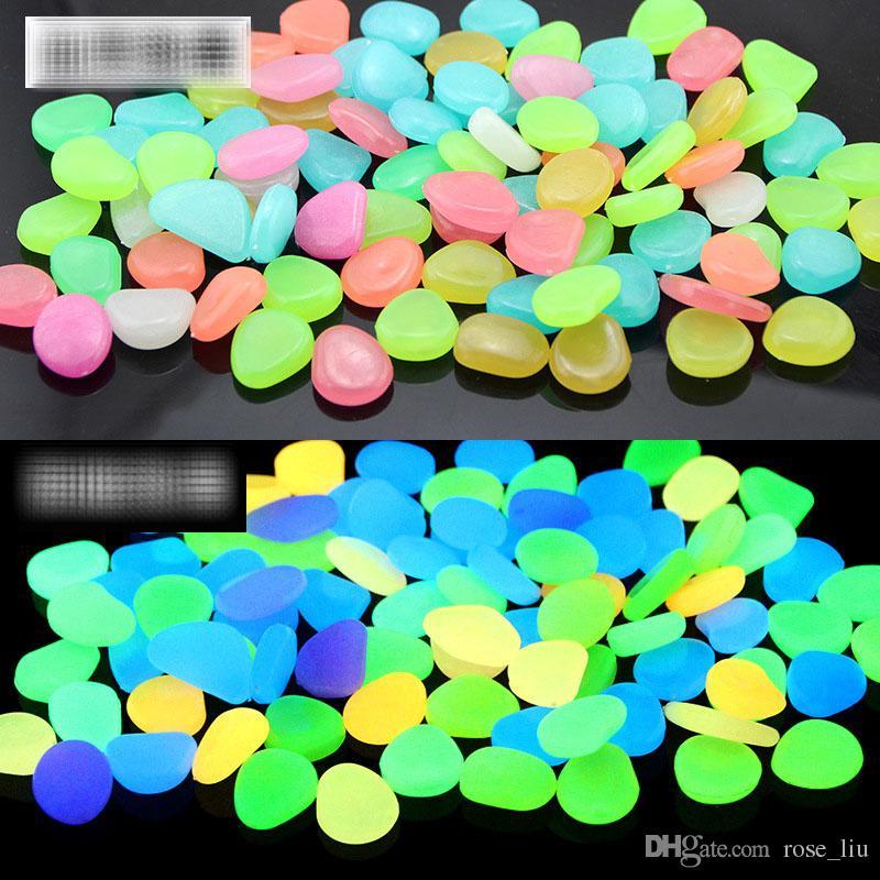 / sac Glow In The Dark Pierres De Galets Lumineux Pour aquarium Mariage Soirée Romantique Festive Événements De Jardin Décorations Artisanat B