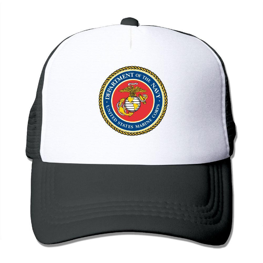 7caab6175fd6d3 Men Women United States Marine Corps USMC Printed Baseball Caps Summer Cool  Snapback Caps Hat Mesh Hat Adjustable Fitted Hats Baseball Hats From  Geworth, ...