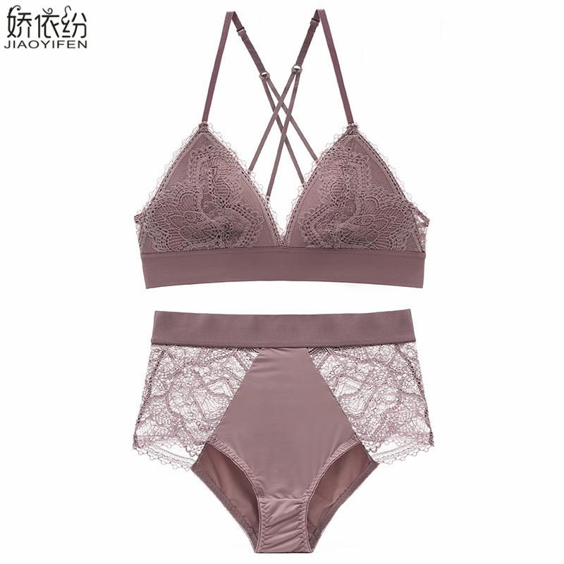 b83ee782ed3 French Bra Set Ultra Thin Lace Underwear Sexy Backless Women ...