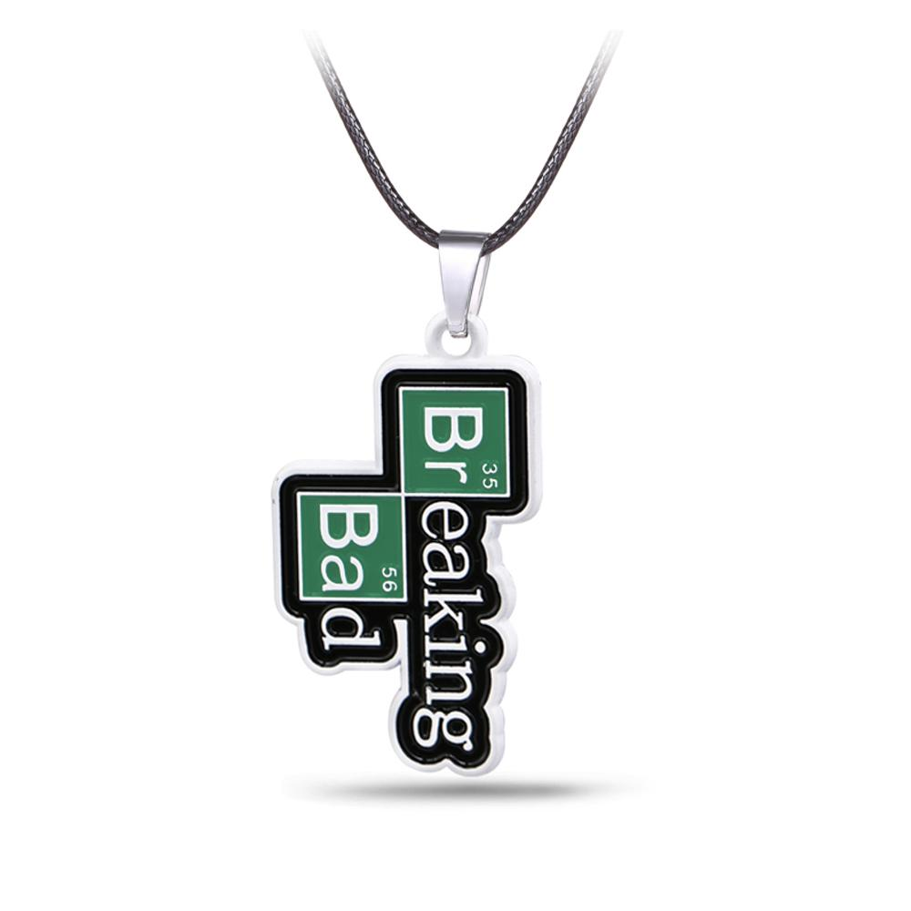 Wholesale Tv Breaking Bad Necklace Chemical Symbol Br Ba Metal